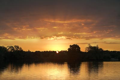 Sunrise over Branston water Park by Gregory Goldston