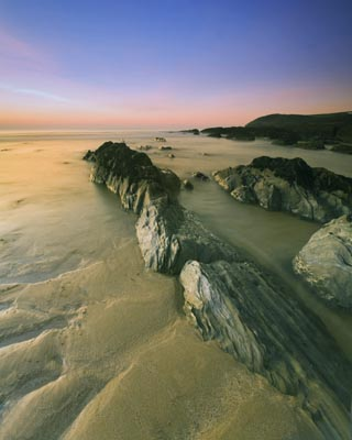 Croyde Bay at Dusk by GregoryGoldston